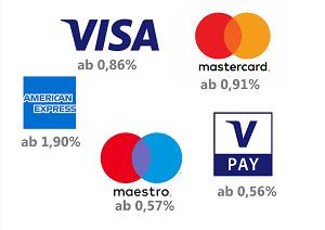 Kreditkartenakzetanz Disagio Kreditkarten VISA Mastercard